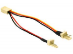 Power cable - 3 pin internal power (F) to 3 pin internal power (M) - 3.9 in