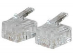 RJ11 6X4 MODULAR PLUG FOR ROUND SOLID CABLE - 25PK