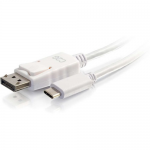 3ft USB C to DisplayPort Cable 4K 30Hz White - External video adapter - USB-C - DisplayPort - white
