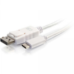 9ft USB C to DisplayPort 4K Cable White - External video adapter - USB-C - DisplayPort - white