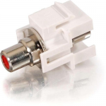 Snap-In Red RCA F/F Keystone Insert Module - White - RCA