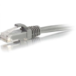 15ft Cat6a Snagless Unshielded (UTP) Network Patch Ethernet Cable-Gray - Patch cable - RJ-45 (M) to RJ-45 (M) - 15 ft - UTP - CAT 6a - molded snagless - gray