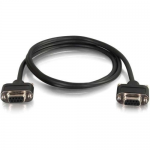 CMG-Rated DB9 Low Profile Cable F-F - Serial cable - DB-9 (F) to DB-9 (F) - 10 ft - molded thumbscrews - black