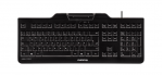 BLACK USB KEYBOARD WITH HIGH PERFORMANCE PCSC/EMV SMART CARD READER US INTL. 104+4 KEY POSITION LAYOUT FIPS201 CERTIFIED