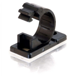 .68in Self-Adhesive Cable Clamp - 50pk - Cable Bundler - Black - 50 Pack