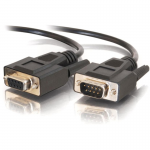 50ft DB9 M/F Extension Cable - Black - DB-9 Male Serial - DB-9 Female Serial - 50ft - Black