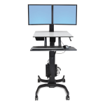 WorkFit-C Computer Stand - Up to 22 inch Screen Support - 28 lb Load Capacity - 23.9 inch Width x 22.8 inch Depth - Powder Coated - Steel Plastic - Black Gray