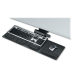 Professional Series Compact Keyboard Tray - 5.8 inch x 27.5 inch x 21.2 inch - Black