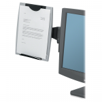 Office Suites Monitor Mount Copyholder - 15 inch x 13.3 inch x 2 inch - Black Silver