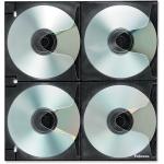 4x4 Binder Sheet - 25 Pack - Slide Insert - Polypropylene - Clear - 8 CD/DVD