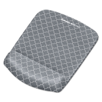 Plushtouch Mouse Pad With Wrist Rest 7 1/4 X 9 3/8 X 1 Gray/white Lattice