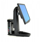 Neo-Flex All-In-One SC Lift Stand Secure Clamp - Stand for LCD display / CPU - black - screen size: up to 24 inch
