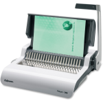 Pulsar+ 300 Manual Comb Binding Machine - Manual - CombBind - 300 Sheet(s) Bind - 18 Punch - Letter - 5.1 inch x 18.1 inch x 15.4 inch - White