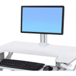 WorkFit Single LD Monitor Kit - Cart upgrade kit for LCD display - white - screen size: 24 inch