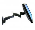 200 Series Wall Mount Arm - Wall mount for LCD display - steel - black - screen size: up to 24 inch - wall-mountable