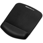 PlushTouch Mouse Pad/Wrist Rest with FoamFusion Technology - Black - 9.4 inch x 7.3 inch x 1 inch Dimension - Black - Polyurethane Foam - Wear Resistant Tear Resistant