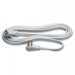 Heavy Duty Indoor 9 feet Extension Cord - 125 V AC Voltage Rating - 15 A Current Rating - Gray