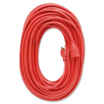 Heavy Duty Indoor/Outdoor 100 feet Extension Cord - 125 V AC Voltage Rating - 13 A Current Rating - Orange