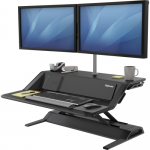 Lotus DX Sit-Stand Workstation - Stand (charge only) for LCD display / keyboard / mouse - black
