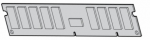 2GB 400MHz PC2-3200R DDR2 dual-rank x4 SDRAM 1.80V registered dual in-line memory module (DIMM)