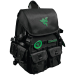 Edge Razer Carrying Case (Backpack) for 17.3 inch Notebook - Black - Water Resistant Exterior Scratch Resistant Exterior Tear Proof Exterior Moisture Resistant Panel - Ballistic Nylon - Shoulder Strap Chest Strap