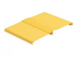 FiberRunner 12x4 Snap-On Hinged Cover - Cable raceway cover - yellow