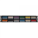 MINI-COM Flush Mount Modular - Patch panel - black - 2U - 19 inch - 48 ports