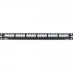 MINI-COM All Metal Shielded Modular Patch Panel - Patch panel - black - 1U - 19 inch - 24 ports