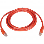 5ft Cat5e / Cat5 350MHz Molded Patch Cable RJ45 M/M Red 5 feet - Patch cable - RJ-45 (M) to RJ-45 (M) - 5 ft - UTP - CAT 5e - molded stranded - red
