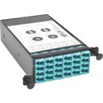 12-Fiber Patch Panel 2 MTP/MPO to 12 LC 10Gb Breakout Cassette - Breakout box - LC x 12 - black - for Tripp Lite High Density Rackmount Fiber Enclosure Panel