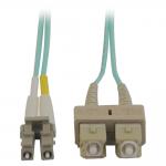 Lite 10Gb Duplex Multimode 50/125 OM3 - LSZH Fiber Patch Cable (LC/SC) - Aqua 2M (6-ft.)