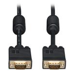 20ft SVGA / VGA Coax Monitor Cable with RGB High Resolution HD15 M/M 20 - VGA cable - HD-15 (VGA) (M) to HD-15 (VGA) (M) - 20 ft - molded - black