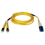 30M Duplex Singlemode 8.3/125 Fiber Optic Patch Cable LC/ST 100 100ft 30 Meter - Patch cable - LC single-mode (M) to ST single-mode (M) - 30 m - fiber optic - 8.3 / 125 micron - yellow