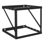 12U Wall Mount Open Frame Rack Cabinet Wallmount Heavy Duty - Rack - open frame - 2-post - wall mountable - black - 12U - 19 inch