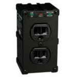 Isobar Surge Protector Wall Mount Direct Plug In 2 Out 1410 Joules - Surge protector - 15 A - AC 120 V - 1.8 kW - output connectors: 2 - black