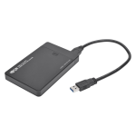 USB 3.0 SuperSpeed External 2.5 in. SATA Hard Drive Enclosure - Storage enclosure with power indicator - 2.5 inch - SATA 6Gb/s - 6 Gbit/s - USB 3.0 - black