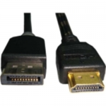 HDMI Male to Displayport Male Cable - DisplayPort/HDMI for Audio/Video Device - 3 ft - 1 x HDMI Male Digital Audio/Video - 1 x DisplayPort Male Digital Audio/Video - Gold Plated - Shielding - Black