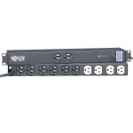 Isobar Surge Protector Rackmount Metal 12 Outlet 15 feet Cord 1U RM - Surge protector ( rack-mountable ) - AC 120 V - output connectors: 12 - Canada United States - black