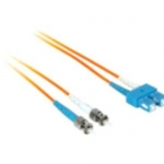 3m SC-ST 50/125 OM2 Duplex Multimode Fiber Optic Cable - Plenum CMP-Rated - Orange - Patch cable - ST multi-mode (M) to SC multi-mode (M) - 3 m - fiber optic - 50 / 125 micron - OM2 - plenum - orange