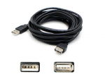 4.57m (15.00ft) USB 2.0 (A) Male to USB 2.0 (B) Male Black Cable - 100% compatible with select devices.