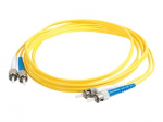 10m SC-ST 9/125 Duplex Single Mode OS2 Fiber Cable - Plenum CMP-Rated - Yellow - 33ft - Patch cable - ST single-mode (M) to ST single-mode (M) - 10 m - fiber optic - 9 / 125 micron - OS2 - plenum - yellow