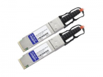 100GBase direct attach cable - QSFP28 to QSFP28 - 30 m - fiber optic - active - orange - TAA Compliant