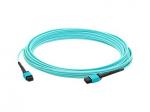 Crossover cable - MPO/UPC multi-mode (F) to MPO/UPC multi-mode (F) - 6 m - fiber optic - 50 / 125 micron - OM4 - halogen-free - aqua