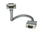 Premium 6ft Premium Shielded HD15 SXGA M/M Monitor Cable with 90? Downward-Angled Male Connector - VGA cable - HD-15 (VGA) (M) to HD-15 (VGA) (M) - 6 ft - 90 connector - gray