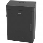Legrand 4RU Vertical Wall-Mount Cabinet with Split Door - 36in Height TAA - System cabinet - wall mountable - black - 4U - 31 inch