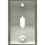 VGA or DB9 D-Sub Port Single Gang Wall Plate - Stainless Steel - DB-9