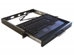 Rackmount Keyboard Drawer with built-in Touchpad Keyboard - Keyboard - rack-mountable - PS/2 - black