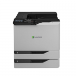 CS820dte Color Laser Printer (60 ppm) (Duty Cycle 200000 Pages) (Duplex) (USB) (Ethernet) (Touchscreen) (2 x 550 Sheet Trays) (100 Sheet MPT) (HW No Free Freight) (Direct Ship from Mfr)