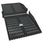 Lite Rack Enclosure Server Cabinet Cantilever Fixed Shelf - 2-Post 4-Post Compatible 2URM - Black