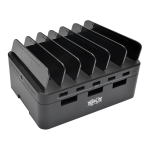 5-Port USB Fast Charging Station Hub with Built-In Device Storage 12V 4A (48W) USB Charger Output - Power adapter - 48 Watt - 4 A - 5 output connectors (5 x 4 pin USB Type A) - black - for P/N: P059-006 P061-006